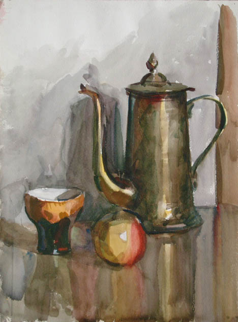 Apple Coffee Maker ~ Alexander alyoshin russian artist painting